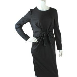 Max Mara Chiffon Twill Black Dress Size 100 183566